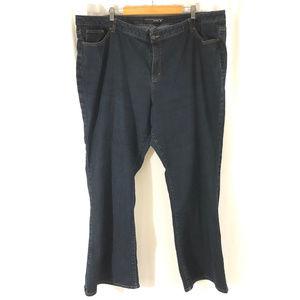 Venezia Womens Jeans Boot Cut Dark Wash Stretch